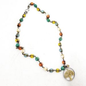 Tree of Life Boho Festival Beads Colorful Necklace